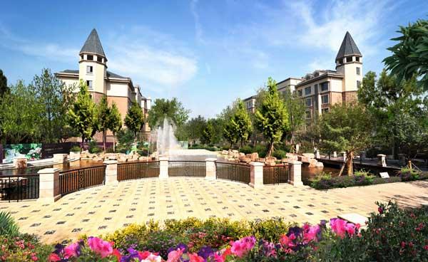 依云小镇住宅立面采用新古典欧式风格